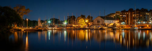 Bronte Harbour Warm Summer Night 8 8 7.5 23.5 TC BPP John Kerr  Pictorial Bronze