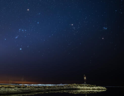 Stars & Planets Over Lake Huron 7 7.5 6 20.5 Mike Mulvale  Pictorial Silver