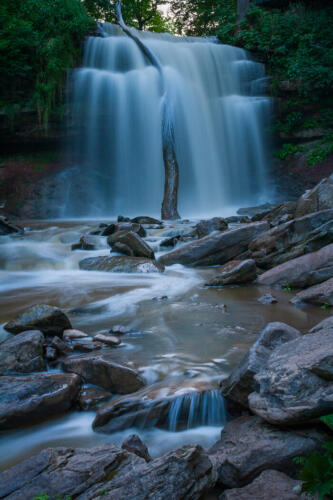 Smokey Hollow Falls At Dusk 8 7 7.5 22.5 HM BPP John Kerr  Pictorial Bronze