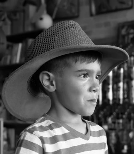 Young Boy Under Hat 21.5 Herb McClelland  Pictorial Silver