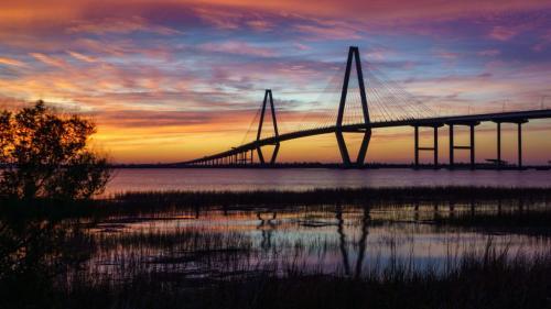 A Ravenel Jr. Bridge, Charleston 22.5 Kathryn Martin  Pictorial Gold