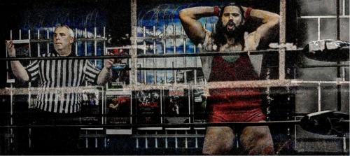 Wrestler And Ref 20.5 Marino Favretto  Creative Bronze