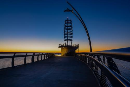 Dawn At Burlington Pier by Mike Mulvale - Pictorial