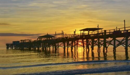 Sunset behind the pier  20  Pictorial  Gold  Greg  Alderson