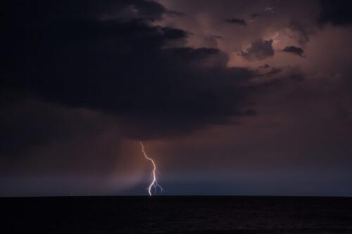 THUNDERSTORM OVER LAKE HURON  21.5  Pictorial  Gold  Jim  Swire