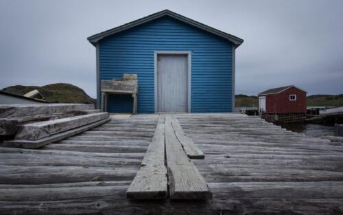 Moody Blue Fishing Hut  21  Pictorial  Bronze  Linda  Pickrell