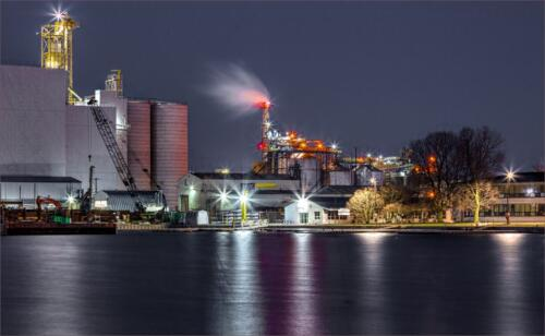 Port of Hamilton at Night  23  Pictorial  Gold  Geoff  Dunn