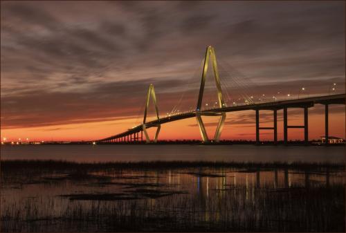 Arthur Ravenel Bridge  8.5 9 10 27.5 TC GPP Judy Boufford  Pictorial Gold