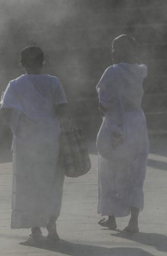 Two Women In The Mist 6 6.5 6 18.5 Geoff Norman  Pictorial Silver