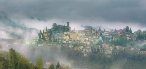Misty Morning, Barga Italy 22 Pictorial Gold John Chapman