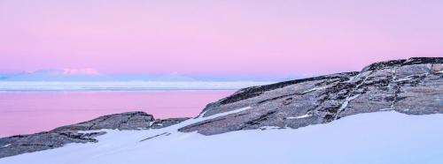 Greenland sunrise 21.5 Pictorial Gold Kathryn Martin