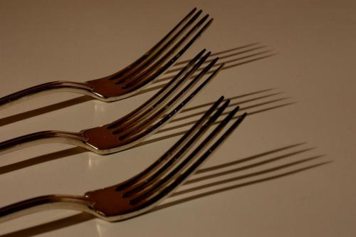 Fork Shadows 19.5 Pictorial Gold Roy Oldfield