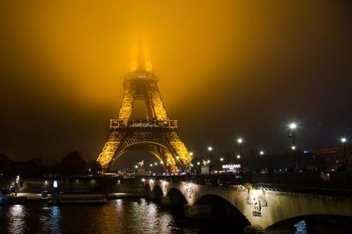 Paris on a foggy night 22.5 SPP Geoffrey Skirrow  Pictorial Silver