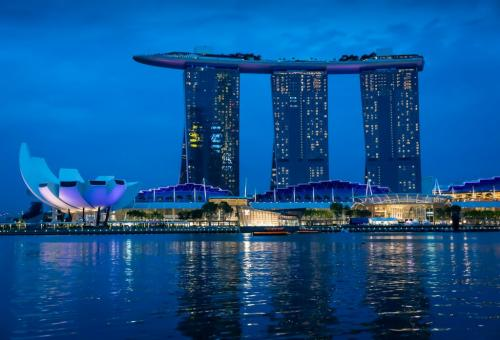 Marina Bay Sands Hotel Singapore 23.5 HM SPP Patrick Mohide  Pictorial Silver