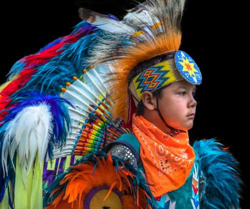 Radiant Young Pow Wow Performer 8 8 8 24 GPP Bertin Francoeur  Pictorial Gold